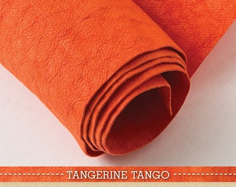 Kraft-Tex Roll, Designer Tangerine Tango, 18.5 Inches x 28.5 Inches Paper Fabric Pre-washed