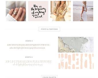 Branding Kit/ branding package/ Logo design/ Watercolor logo design/ Business logo design/ branding/ makeup logo/ premade logo/ wedding