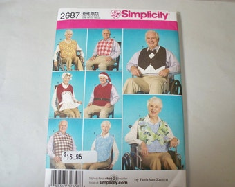 New Simplicity  Adult Clothing Protector  Pattern, 2687 (Free US Shipping)