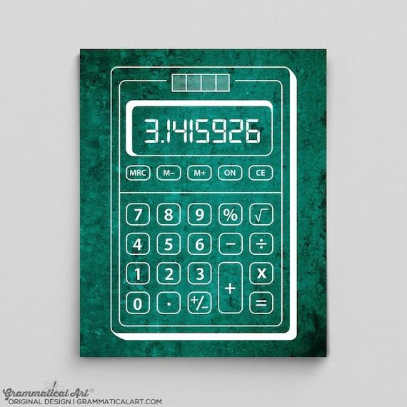 Calculator Print Calculator Poster Math Teacher Gifts for