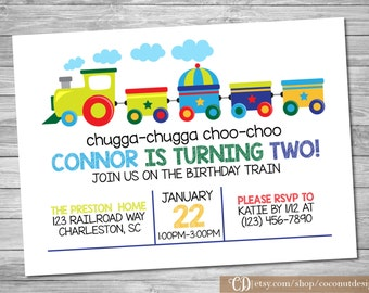 Train Invitation / Train Birthday Invitation / Train Birthday / Printable File