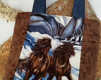 Small Horse Tote Bag, ready to ship,  Toddler Tote, Girl's Horse Purse, Girl's Tote