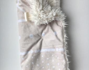 NEUTRAL MUDCLOTH >> baby boy blanket, baby girl blanket, soft cuddle blanket, minky blanket, stroller blanket, faux fur blanket, playmat