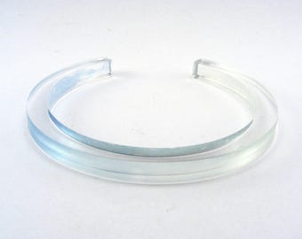 Slim Acrylic Bangle - Pale blue bangle - Lightweight perspex bangle - thin bracelet - teen bracelet - clear perspex - Special Offer