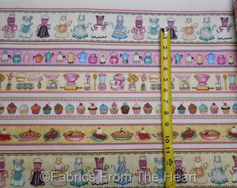Home Sweet Home Baking Supply Cupcakes Aprons Pies BY YARDS QT Cotton Fabric