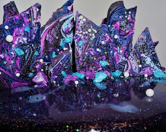 CHOCOLATE BARK Galaxy Space Rock Theme