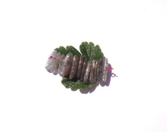 Multicolor kyanite / Kyanite: 12 small aiguillettes irregular 13/15 mm tall
