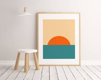 Sunset Print, Kids Room Decor, Kids Room Art, Kids Room Wall Art, Kids Room Poster, Printable Wall Art