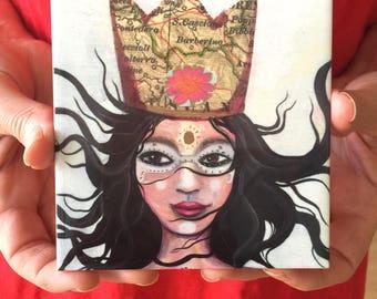 Queen of Adventure, ceramic art tile pre-orders