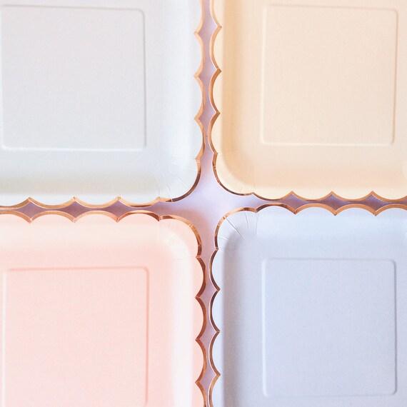 Pastell Partei Platten Pastell Themen Partyware ausgebogter