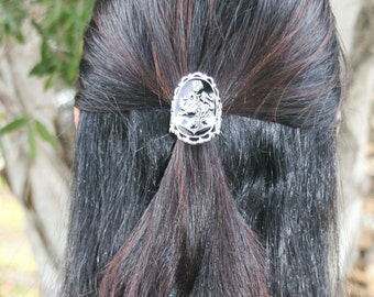 Black Enamel Kingdom Crest 3 Sided Hair Hook Hair Accessory FREE USA SHIPPING!