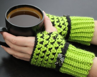 Crocheted hand warmers