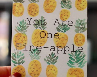 Fine-apple Hand Painted Post Card