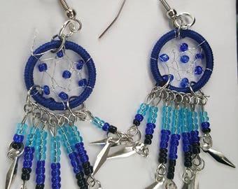 In The Blue Dream Catcher Earrings