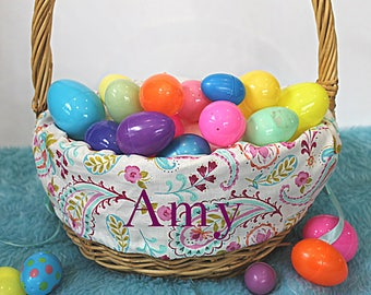 Paisley Personalized Easter Basket Liner--- Lots of fabrics to choose from