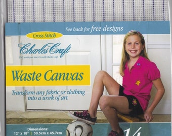 Waste Canvas 14 count for Cross Stitch, Charles Craft