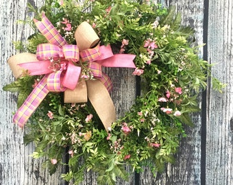 Front Door Wreaths Spring Summer Everyday Wreath Year Round Wreaths for Front Door Spring Wreath Mother's Day Farmhouse Wreath