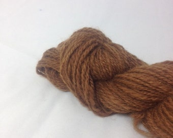Handspun Alpaca Yarn- Caramel Color- Worsted Weight Yarn- 100 yards- Plumas County California