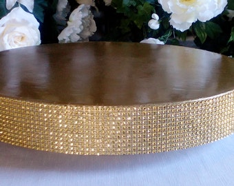 "Wedding Cake Stand ""Glitzy Gold"" 14"", 16"", 18"", 20"", and 22"""