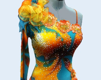 Ballroom Dance Dress Abstract