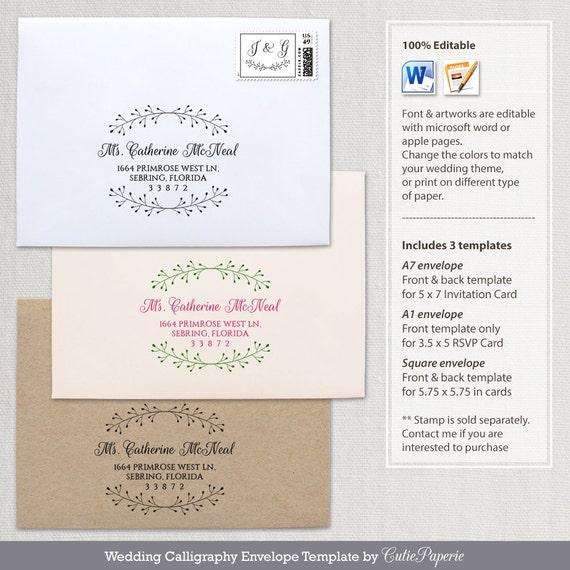 Printable Envelope Template Wedding Envelope Template DIY - A1 envelope template