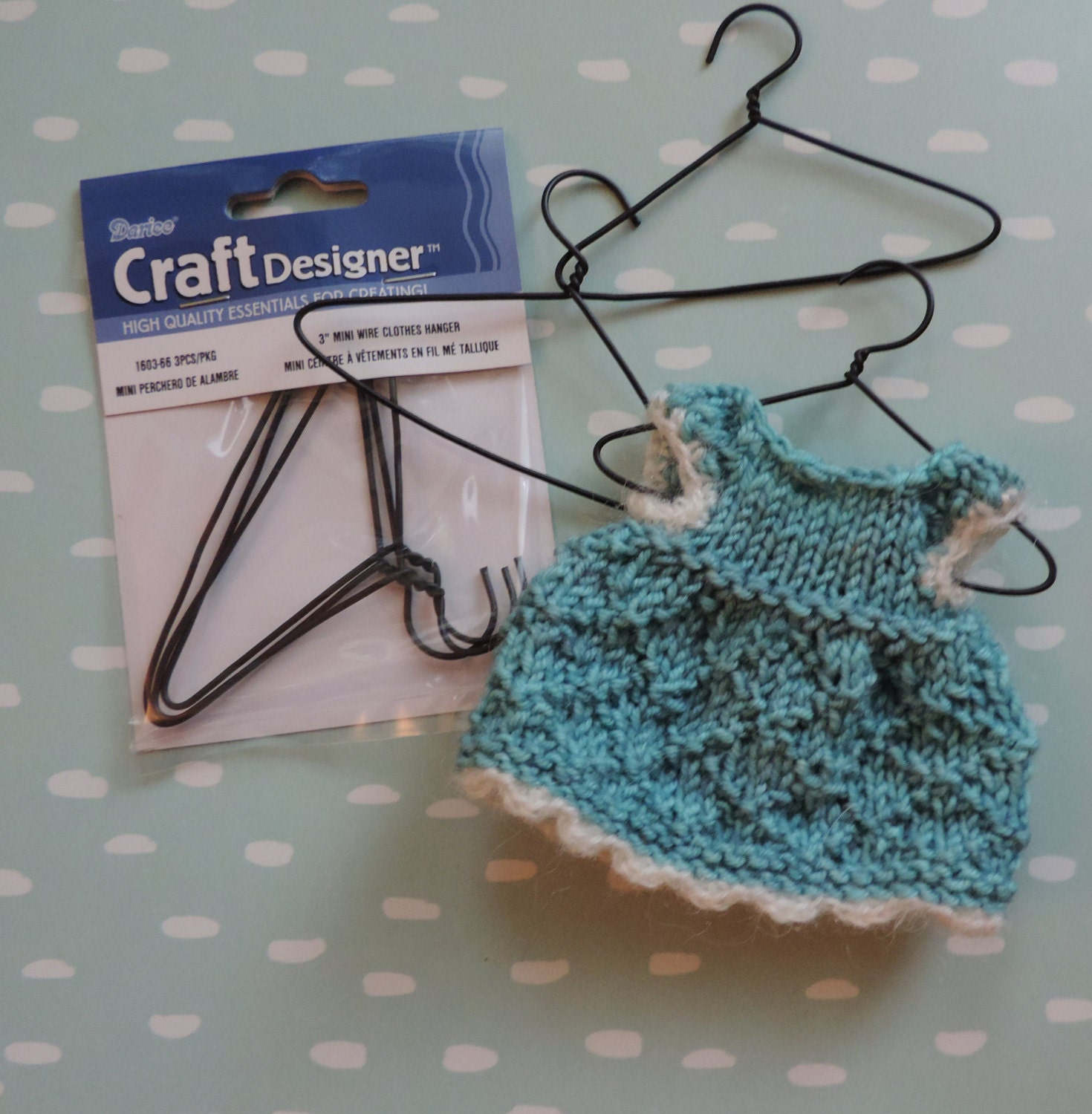 3 Inch Mini Wire Hangers, Packaged Set of 3, Great for Doll Clothes ...