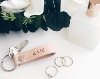 Leather keychain, custom, personalised, key fob, key chain, Mothers day, housewarming gift, best friend gift, bridesmaid gift, gift for him