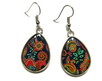 Bohemian TearDrop Earrings - Colorful Earrings - Summer Boho Earrings