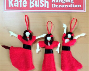 Kate Bush Wuthering Heights Felt Hanging Decoration