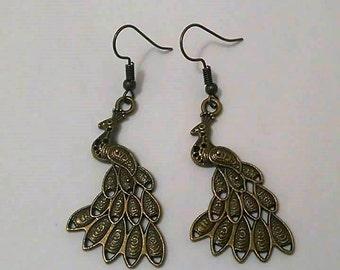 """Earrings """"Peacock"""""""
