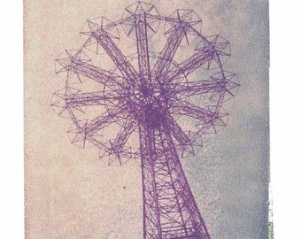 Coney Island Print Brooklyn Vintage Polaroid Art 8x10 inch