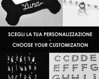Customization-Customization initial letter pendant, Swarovski glitter, hand painted name