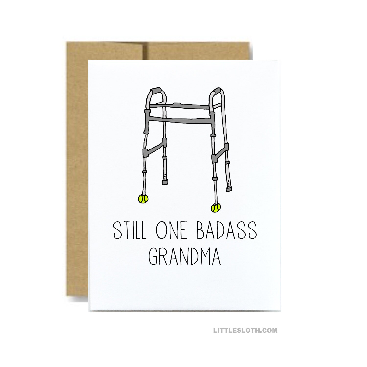 Badass grandma card funny mothers day card for granny walker zoom kristyandbryce Images