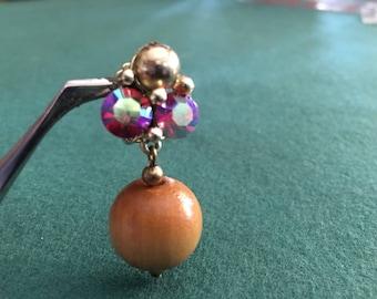 Vintage Coro clip-on danging earrings
