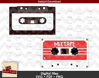 Cassette Tape | 80s Mix Tape | 1980 Mixtape | SVG Files