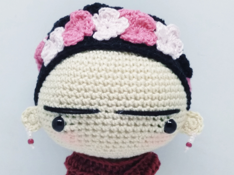 Frida Amigurumi Patron : Pattern frida amigurumi pattern frida kahlo pdf crochet doll