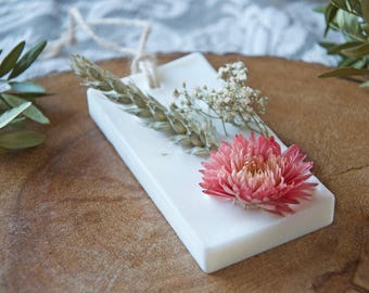 Scented Home Decor With Dried Flowers - Scented Soy Wax Sachet - Valentines Gift - Chic Decor - Air Freshener - Special Gift