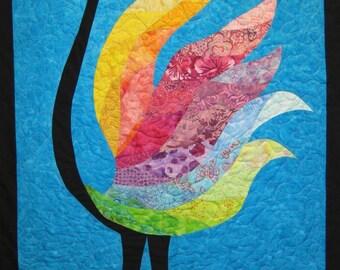 Bird Wall Hanging Art Quilt