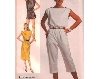 Simplicity Sewing Pattern 7428 Misses' Jumpsuit, Romper, Pullover Dress  Size:  N  12-12-14  Uncut