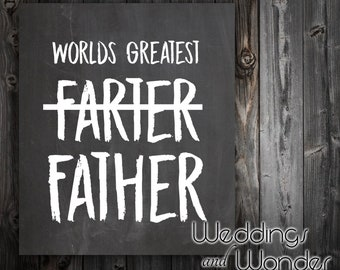 World's Best Farter Funny Father's Day - Beer Bottle Label