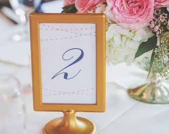 Printable Table Numbers Template | INSTANT DOWNLOAD | Lights | Word or Pages Mac & PC | 5x7 | Any Colors