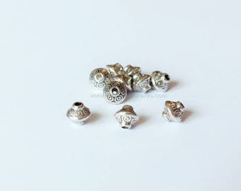 5x3mm - 10 or 100 Tibetan Style Bead Spacers