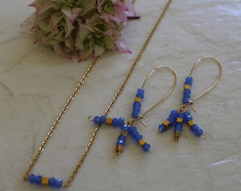 Blue Sky necklace and earring set