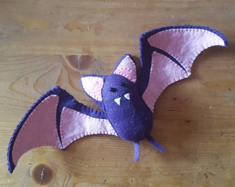 Handmade Plush Bat