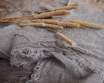 100% Natural Linen Scarf, Eco Linen, Many Color, Eco Scarf, Women, Men Accessories