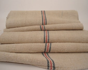 Antique Handloomed UPHOLSTERY Antique Hemp Linen Ecofriendly for Stairrunner 9,4 Yard