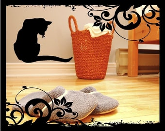 Cat Silhouette - Vinyl Decal