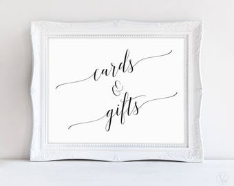 Wedding Cards and Gifts Sign, Printable Wedding Sign, Cards and Gifts, Wedding Reception Sign