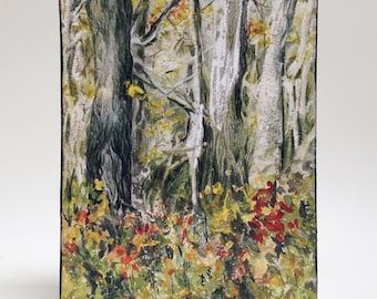 Watercolor art print mounted on wood panel — ready to hang — Forest for the Trees