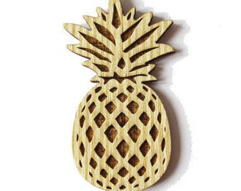 Natural wood pineapple - hole 60x33mm - Non pierced